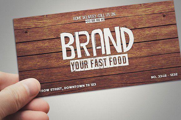 Fast food restaurant gift card  @creativework247