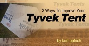 TYVEK TENT: Does anyone use Tyvek home sheeting for tent material? Yeah! If you are wondering how to make a DIY Tyvek tent or Tyvek emergency shelters, then there are a few things you'll want to know first.