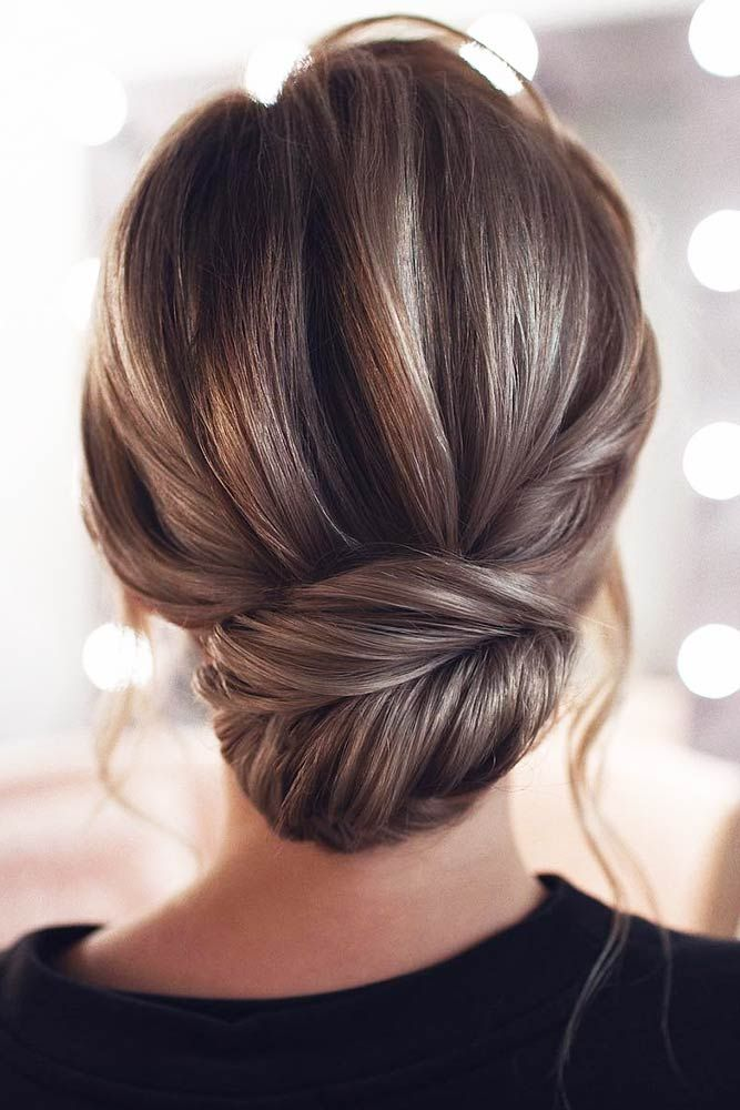 55 Fun And Easy Updos For Long Hair Lovehairstyles Com Loose Bun Hairstyles Thick Hair Styles Long Hair Styles