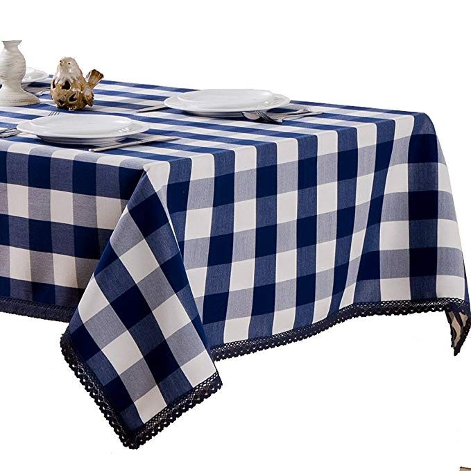 R Lang Spillproof Heavy Weight Fabric Tablecloth 60 X 144 Inch Jacquard Tablecloth Rectangle Dark Blue Review Tablecloth Fabric Table Cloth Fabric