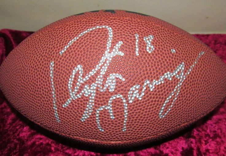 """Peyton Manning Autographed Football w/COA 8.5"""" Wilson,1998 Ultra Rookie Card PSA #Wilson #IndianapolisColts"""