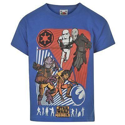 Boys Blue Star Wars Rebels Printed Short Sleeved T Shirt
