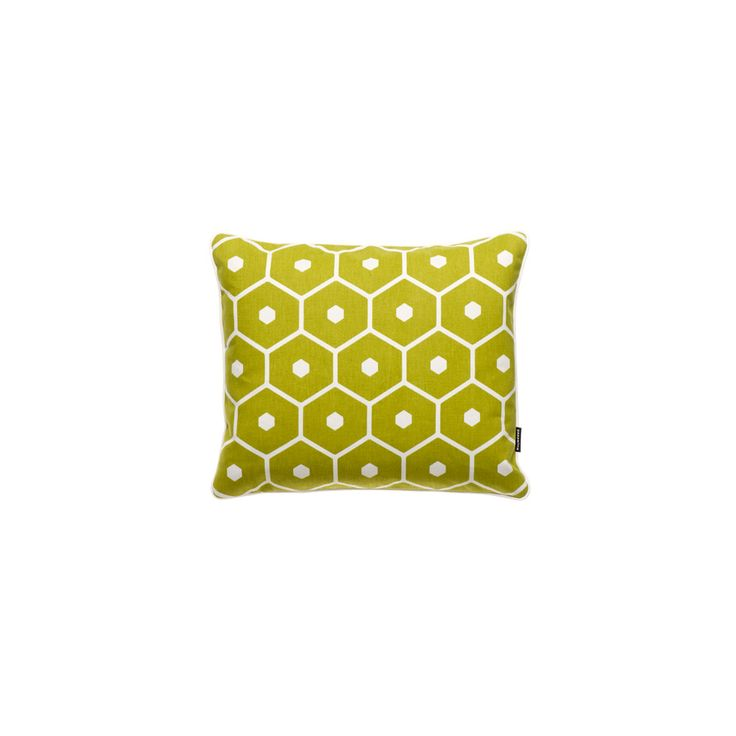 Pappelina honey lime cushion