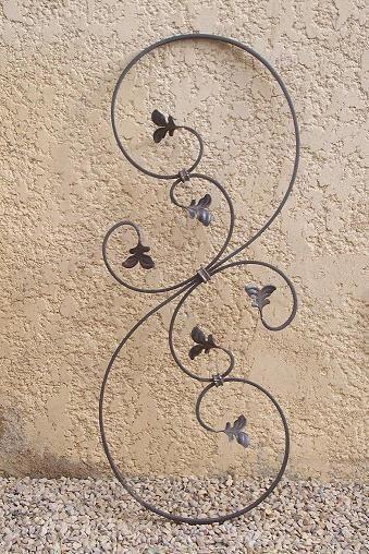 decoration fer forge volute deco feuilles rampes. Black Bedroom Furniture Sets. Home Design Ideas