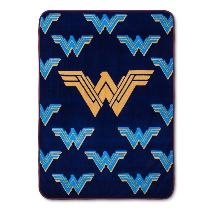 "Wonder Woman Navy Throw Blanket (46""x60"")"
