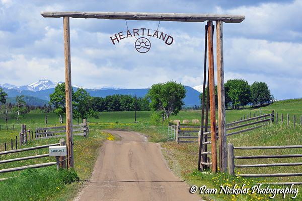 heartland tv show | We were told that the owner of the ranch makes the film company take the sign down