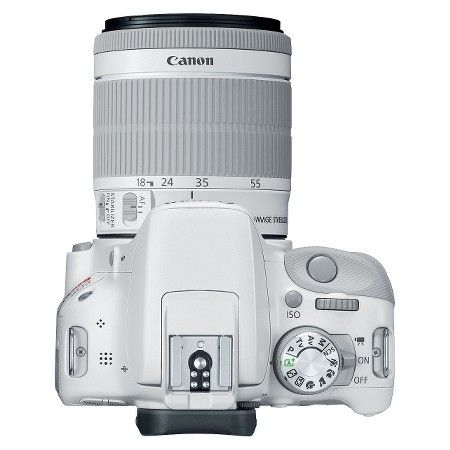 Canon EOS Rebel SL1 18MP Digital SLR Camera with EF-S 18-55mm IS STM Lens - White