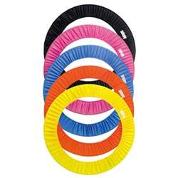 Sasaki Hoop Cover (SB-18):  Treat your rhythmic gymnastics equipment with tender loving care by using this convenient SB-18 Hoop Cover from Sasaki. The durable nylon cover will fit up to five of your rhythmic gymnastics hoops, and can be a great solution for transportation or storage. Choose from five fun and vibrant colors, including lemon yellow, blue, orange, pink and black. The cover also boasts the Sasaki logo onthe front. On sale for $47.