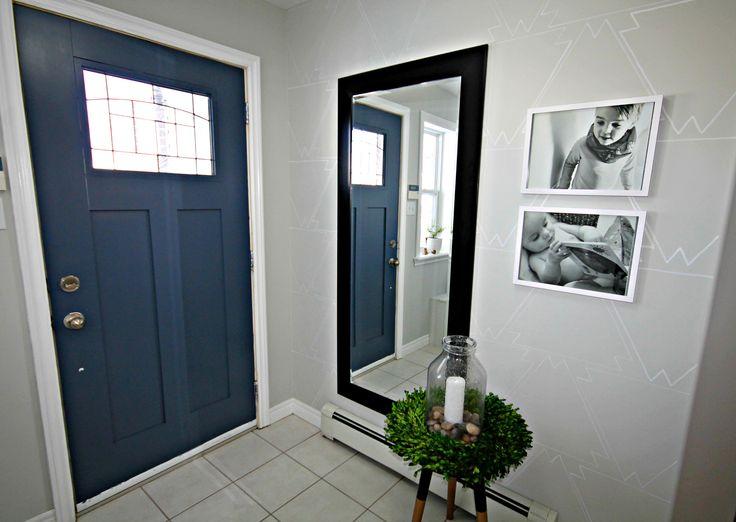 Newburyport Blue From Benjamin Moore Front Door Interior