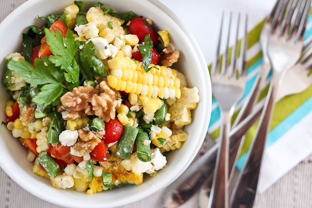 corn so this salad looks like a must try - Grill Roasted Corn Salad ...