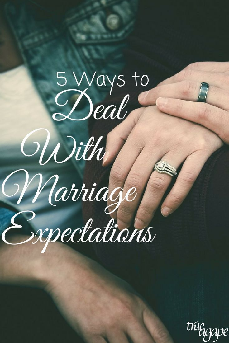 5 Methods to Take care of Marriage Expectations