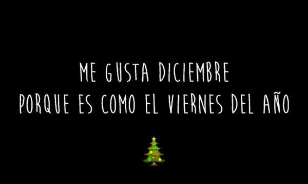 Me gusta Diciembre. #