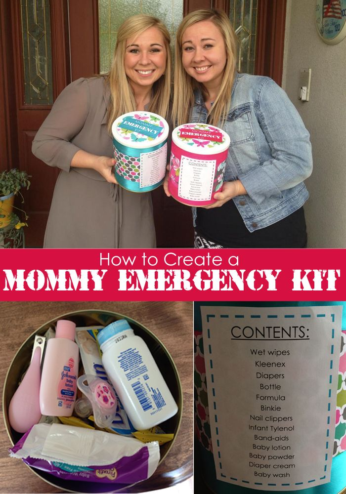 278 best diy baby gift ideas images on pinterest birth paper how to create a mommy emergency car kit negle Images