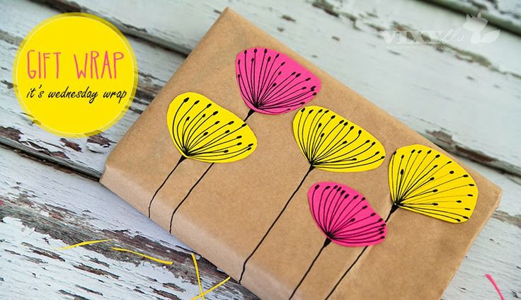 DIY: Nice Gift Wrap! | Art And Chic-Use Christmas items...not in English but the pictures are easy to follow