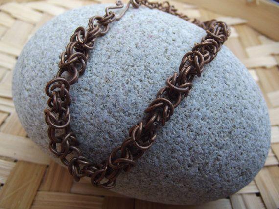Gli uomini di rame rame catena tribale di silveringjewelry su Etsy