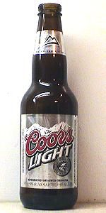 Coors Light is a Light Lager style beer brewed by Coors Brewing Company in Golden, CO. 51 out of 100 with 1215 reviews, ratings and opinions.