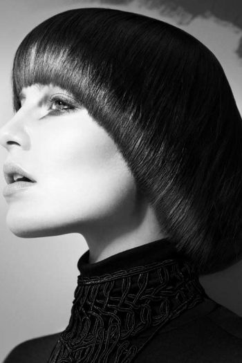 Anges De Lumiere by Janer Stewart, Photos: Andrew O'Toole #hair #edgy #bob | See more on www.salonmagazine.ca