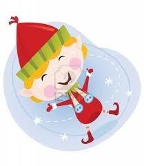 Cute christmas elf in red.