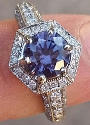 benjdow's Montana Sapphire Engagement Ring (Front View) - image by benjdow