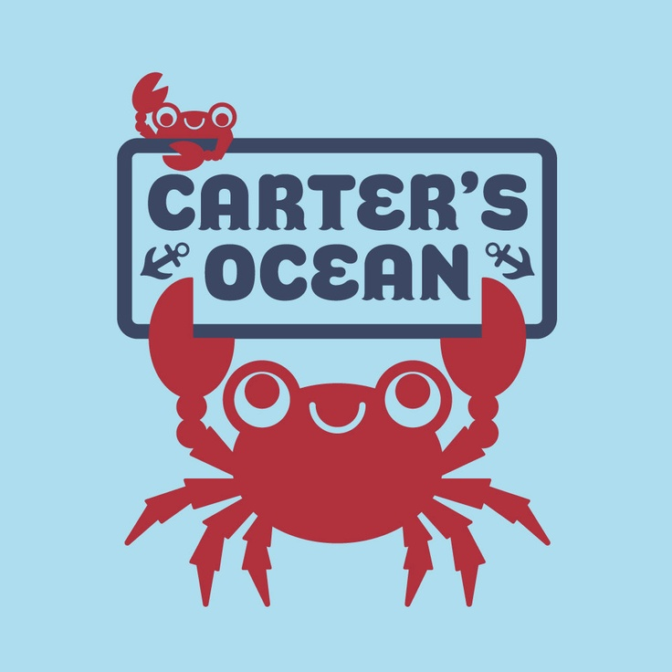 King Crab Wall Decal Sticker Room Sign for Ocean Nursery Baby Children. $35.00, via Etsy.  for kids' bathroom