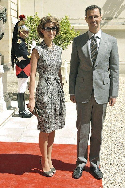 Syria's Bashar al-Assad and wife Asma.