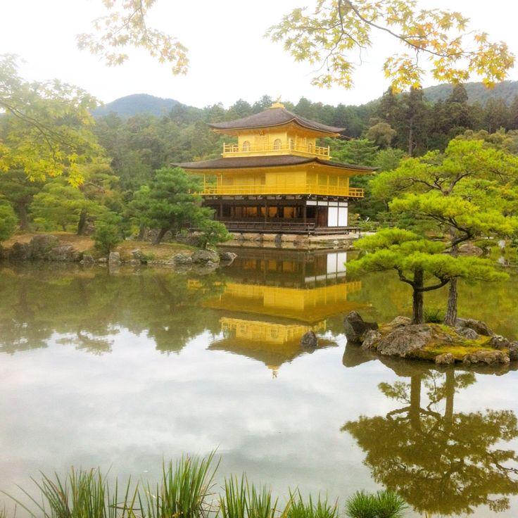 La pagoda de oro en Kyoto