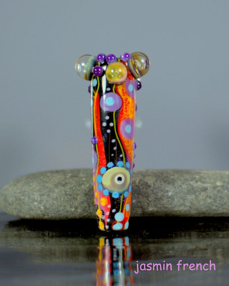 dangler lampwork focal pendant bead by jasmin french