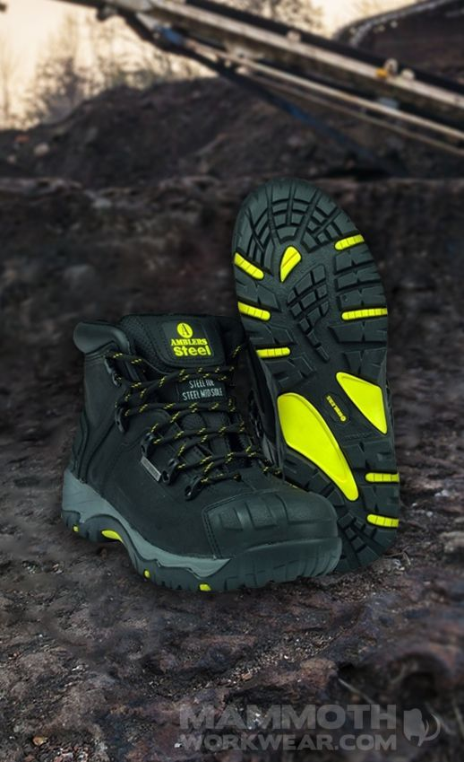 Tough boots for tough sites. Amblers FS32/FS39 waterproof safety boots feature steel toes and midsoles, and are ISO20345, S3, W/P+SRC compliant.