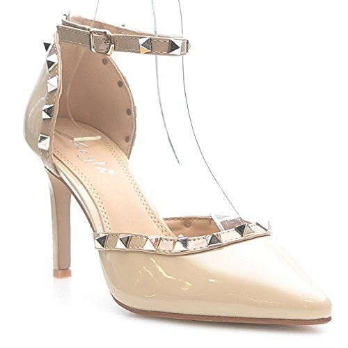 Kayla shoes Damen Elegante Design Stiletto Pumps WW032 Beige 38 - http://on-line-kaufen.de/kayla-shoes/38-eu-kayla-shoes-damen-elegante-design-stiletto-18