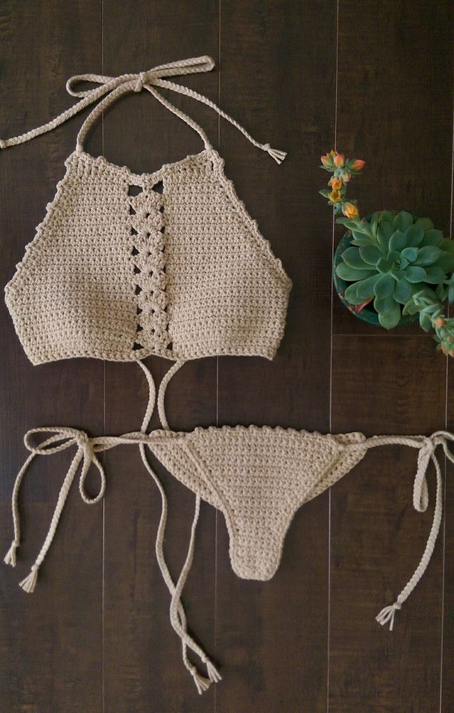 Castaway Halter -Crochet Bikini Top- – LostCulture