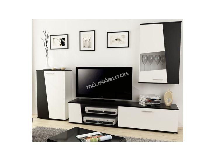 Nadčasová obývacia stena v trendovom tvare a obľúbenom farebnom prevedení.