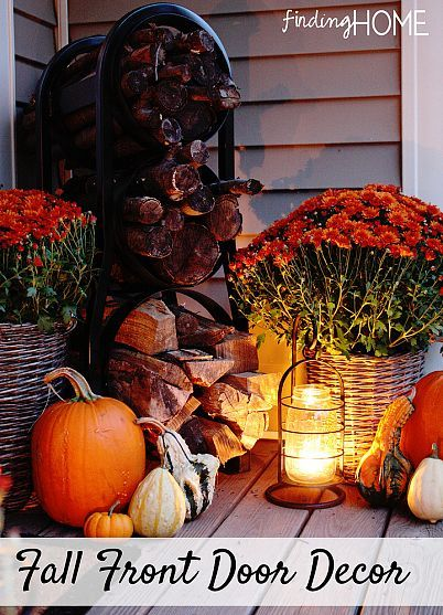 DIY.... Fall Front Door Ideas by Finding Home