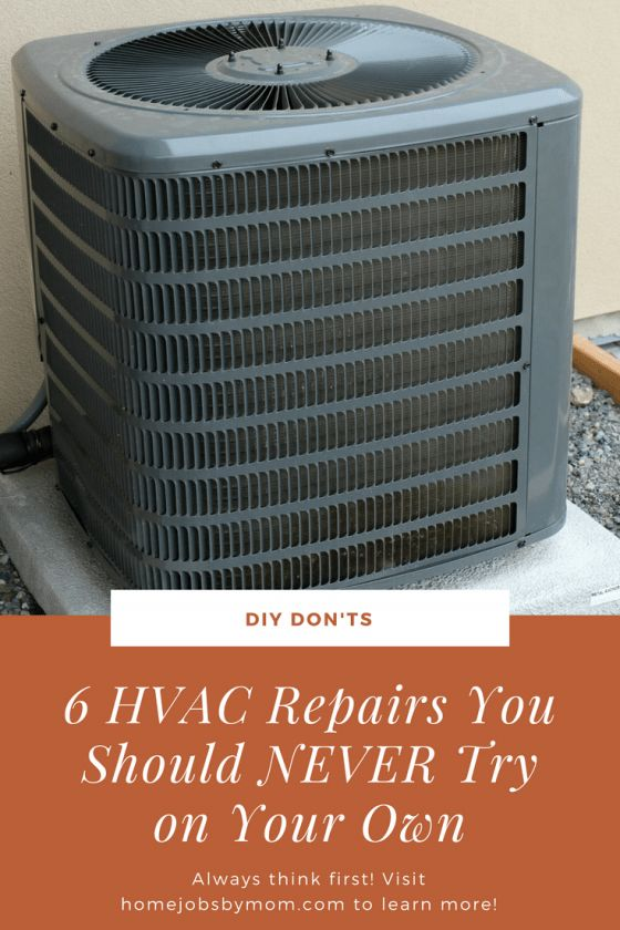 t might be tempting to try to fix your HVAC unit when it starts behaving weird, but these appliances are a lot more complex than other ordinary house items. Unless you're trained to do so, you shouldn't try to repair your heating system. hvac repairs, hvac, hvac hacks, hvac tips, hvac diy