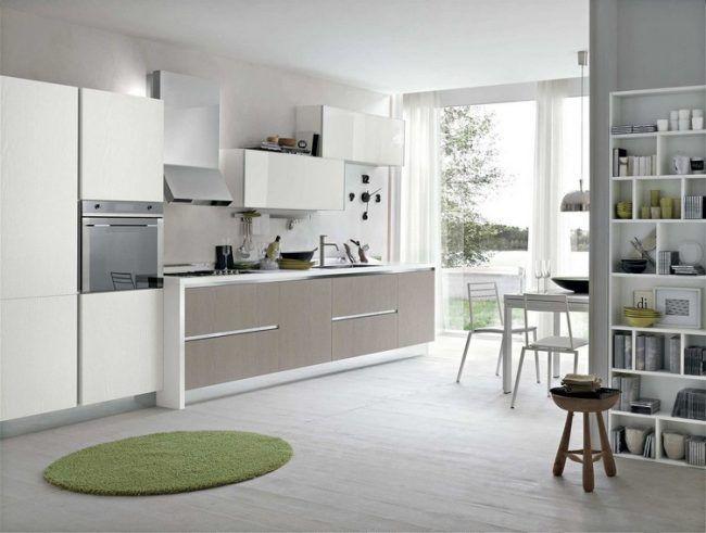 Welche Farbe Kueche Modern Holz Furnier Hochglanz Weiss