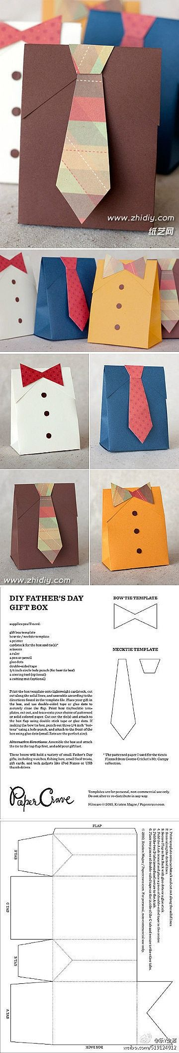 Father's day shirt and tie treat box - bjl