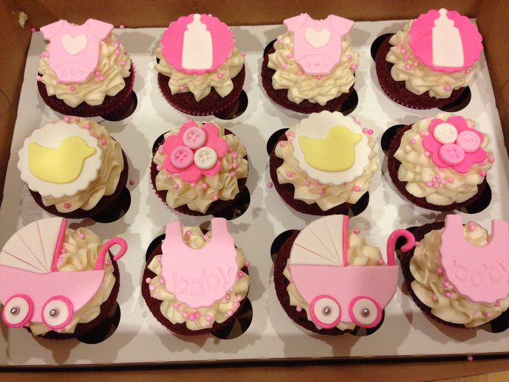 1000 images about baby shower cakes and cupcakes on for Cupcake recipes for baby shower girl
