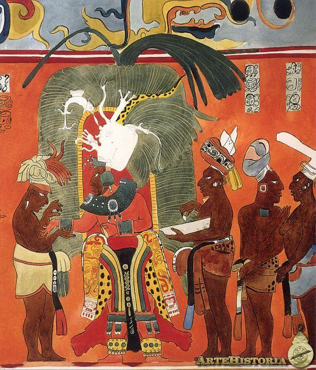 frescos de bonampak,mexico   Frescos de Bonampak. Cultura Maya (México)