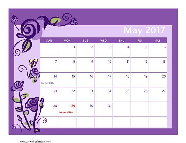1000+ ideas sobre May 2017 Calendar en Pinterest   Calendarios ...