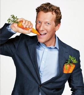 Magnus Scheving & carrots