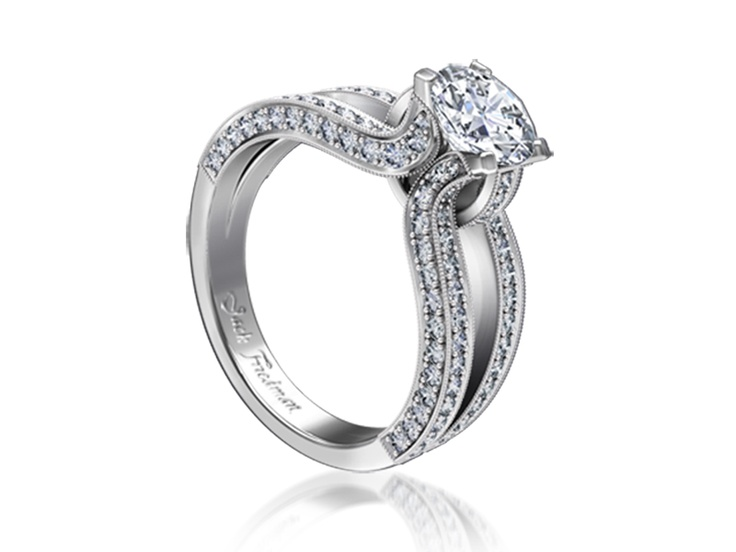 The Orchid engagement ring design is inspired by nature and speaks of sophistication.