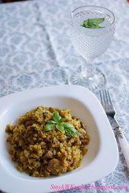 SmykWKuchni: Risotto z pieczarkami i kurczakiem w curry- cudowne!