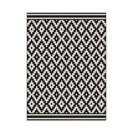 Tapis Losange Noir et Blanc 160 x 230 cm