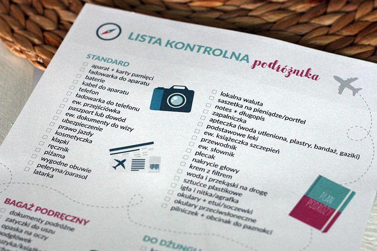Lista kontrolna podróżnika - co zabrać ze sobą w podróż? Nasza checklista Wam pomoże!