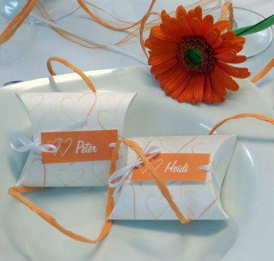 Hochzeitspapeterie in orange