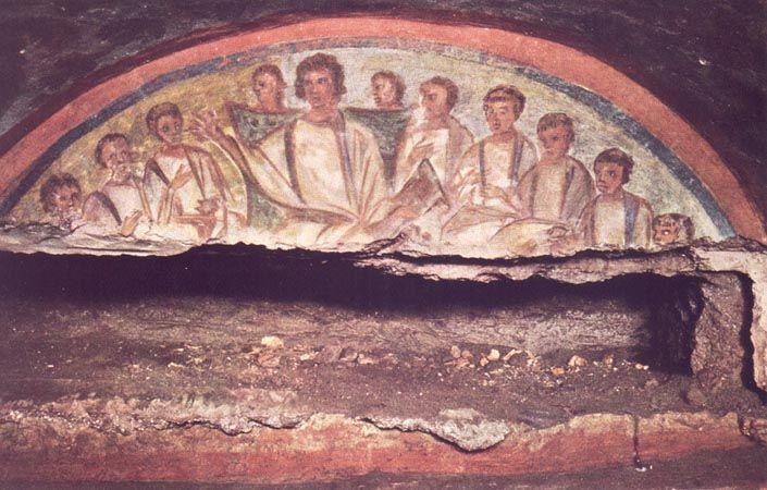 Фрески на захоронениях