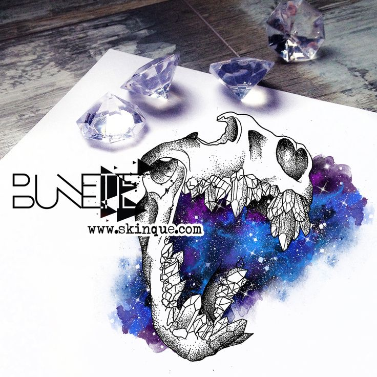 Buy this skull with galaxy here