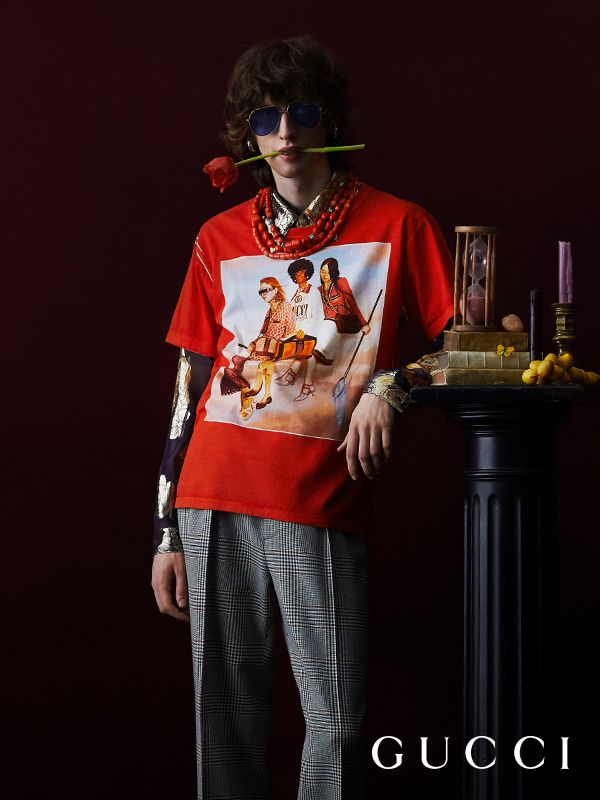 d81740cf333 Featuring the digitally painted illustrations from the Gucci Spring Summer  2018 campaign by Ignasi Monreal