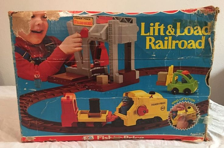 Vintage Fisher Price Lift & Load Railroad With Original Box Little People Toy   | eBay