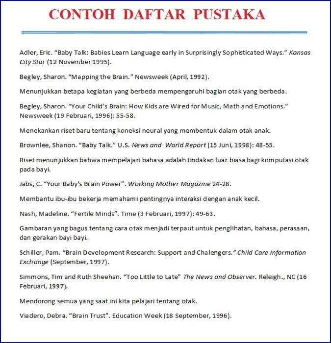 Contoh Daftar Pustaka Makalah Dari Buku Dan Internet Buku Psikologi Perpustakaan Buku