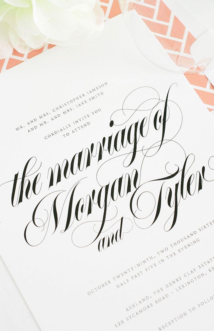 Calligraphy #wedding suite   Shine Wedding Invitations
